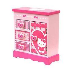 Hello Kitty Jewelry Box | Hello Kitty Armoire Jewelry Box- Ribbons and Hearts