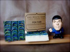 Pon Farr Soap {Soap for Men} #nerd #vulcan #spock #startrek #ponfarr #musk #soap #badmouthsoap #handmade #simple #clean #filthy