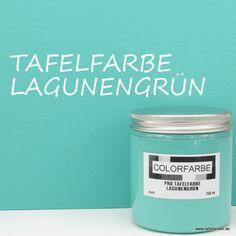 """Küche, Aufbewahrungsgläser beschriften // COLORFARBE PRO Tafelfarbe """"Lagunengrün"""" matt"""