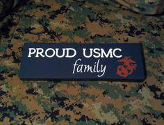 Wood Sign Proud USMC Family Marine Corps by HandmadeByLeeAnn, $15.99