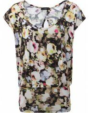 Paul Smith Black Floral Jersey Top