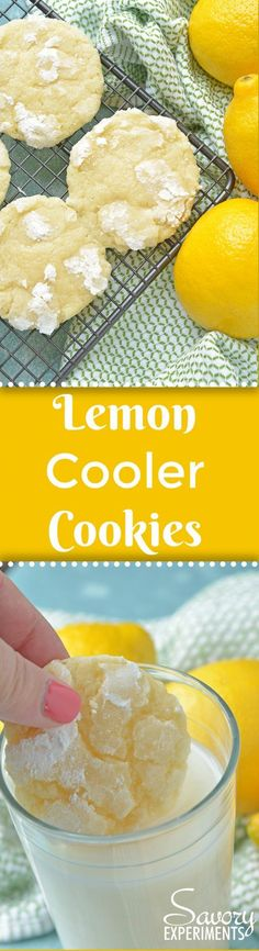 Lemon Cooler Cookies, also known as Sunshine Lemon Coolers, are a classic cookie recipe using fresh lemon and an easy cookie dough.#lemoncoolercookies #lemoncoolers #lemoncookies www.savoryexperiments.com  via @savorycooking