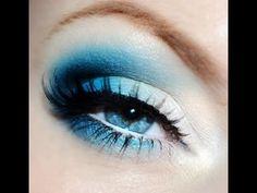 Bright blue eyes makeup tutorial