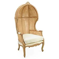 Porter Canopy Chair, Cane