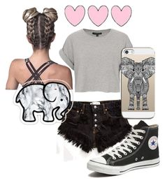 """""""Untitled #12"""" by katelynnt3757 ❤ liked on Polyvore featuring Converse, Topshop, Runwaydreamz and Casetify"""