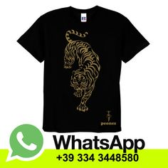 T-shirt in cotone manica corta  Black MEN/UNISEX & Lady Tigre