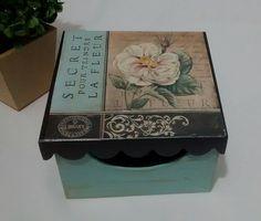 Caixa Porta Batons Flores Vintage