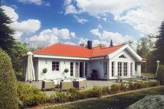 Havsvik är ett hus i klassisk bungalowstil. Husets vinklar ger såväl spännande exteriör som skyddade uteplatser. Entrén ligger behagligt skyddad under det utdragna taket som med sin utsvängda takfot ger karaktär och en känsla av exklusivitet.