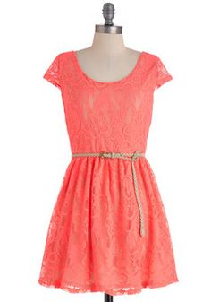 Bright There Dress in Pink, and the Power of bright colors and lace. LOVE!