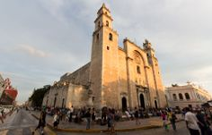 Cathedral of Merida  Letzter Tag in der Hitze von Merida, der Hauptstadt von Yucatan