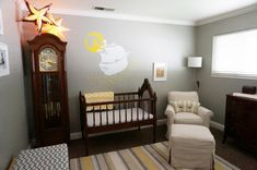Project Nursery - Grandfather Clock in this Neverland Nursery