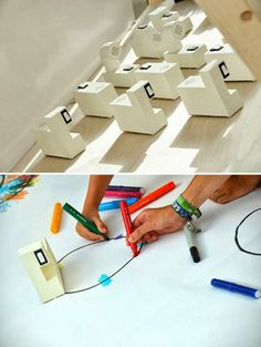 Colour Chasers - robots that interoperate colour into sound! So cool.