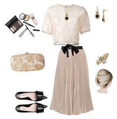 """""""Untitled #170"""" by caitlin-ross-1 on Polyvore featuring Tome, Miu Miu, RED Valentino, Oscar de la Renta, Lord & Taylor and Borghese"""