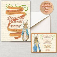 Vintage Peter Rabbit Beatrix Potter Baby Shower by InvitingParties, $17.99