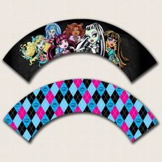 Monster High Printable Cupcake Wrappers by AngelKittenDesigns, $3.00... Kaitlynn's cupcake wrappers