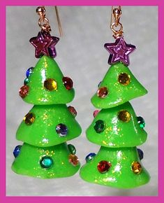 Tree Earrings Best December Creative Play Day 4: Polymer Clay Holiday Tree Earrings by Candace Jedrowicz