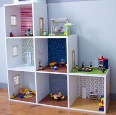 MAISON DE POUPEE A FAIRE SOI-MEME; Dans cet article, des modèles de maisons de poupée homemade, fabriquées à partir d'un meuble, de carton de récup ou de bâtonnets en bois. Pour le bonheur des enfants et des parents.