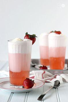 strawberry soda floats.