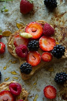 Peanut Butter and Berry Toast