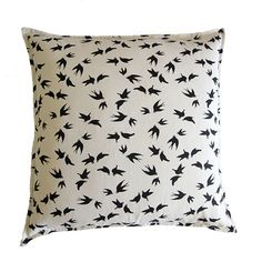 Swallow scatter cushions from Ruby & Me available in 50 x 50 cm and 60 x 60 cm with print on both sides