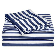 Shop for Superior 600 Thread Count Deep Pocket Cabana Stripe Cotton Blend Sheet Set. Get free delivery On EVERYTHING* Overstock - Your Online Bedding Basics Store!