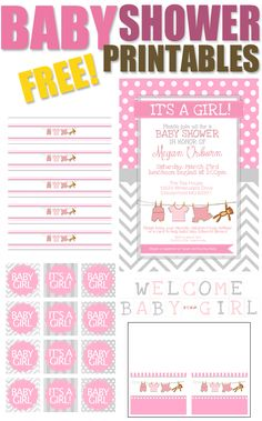 Printable Baby Shower Invitations Girl Luxury Baby Girl Shower Free Printables How to Nest for Less™ Baby Girl Shower, Baby Shower Cupcakes For Girls, Baby Shower Tags, Baby Shower Invites For Girl, Baby Shower Themes, Baby Shower Gifts, Shower Ideas, Baby Showers, Bridal Shower