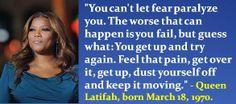Queen Latifah, born March 18, 1970.  #QueenLatifah #MarchBirthdays #Quotes