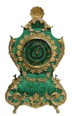 Antique Clocks :     Malachite Casket «Barocco»    -Read More –