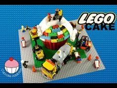 LEGO CAKE! How to Make A Lego Construction Cake - A Cupcake Addiction Tutorial - YouTube