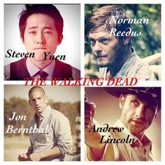 """My boys from """"The Walking Dead.""""  where's Dale, Hershel & T-Dog ?? lol and I could care less about Shane"""