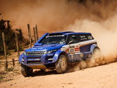 Range Rover Evoque rally raid car