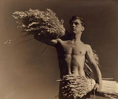 Keast Burke (New Zealand 1896 – Australia Australia from Harvest c. 1940 Gelatin silver photograph x cm) National Gallery of Victoria, Melbourne Gerstl Bequest, 2000 Ian Potter, Dr Marcus, Work In Australia, Gay, Lake Art, Brave New World, Vintage Photographs, Vintage Photos, Male Body