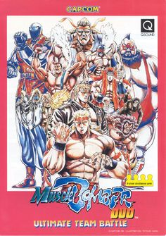 The Arcade Flyer Archive - Video Game Flyers: Muscle Bomber Duo - Ultimate Team Battle, Capcom Vintage Video Games, Retro Video Games, Retro Games, Video Game Posters, Video Game Art, Japan Tattoo Design, Japanese Video Games, Pc Engine, Fighting Games