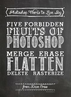 How One Photoshop Workflow Sidesteps The Five Forbidden Fruits by Dave Cross on the creativeLIVE blog