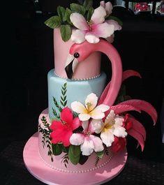 New Cupcakes San Valentn Caja De Ideas Flamingo Cake, Flamingo Birthday, Flamingo Party, Hawaiian Birthday, Luau Birthday, Fondant Cupcakes, Cupcake Cakes, Hawaii Cake, Pink Sweets