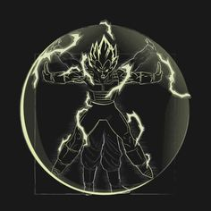 VITRUVIAN SAIYAN ( PRINCE VARIANT) T-Shirt - Dragon Ball Z T-Shirt is $12.99 today at Pop Up Tee!