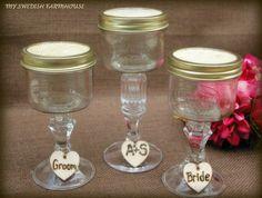 Sand Ceremony Wine Ceremony Mason Jar Glass by MinSvenskaLandgard, @Alisha McDuffie