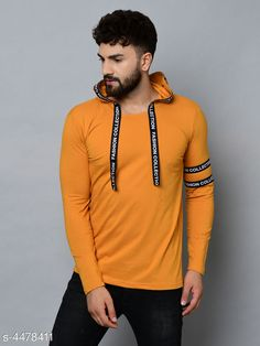 Tshirts Designer Men T-Shirts Fabric: 100 % Cotton Sleeve Length: Long Sleeves Pattern: Solid Multipack: 1 Sizes: S (Chest Size: 36 in Length Size: 27 in)  XL (Chest Size: 42 in Length Size: 30 in)  L (Chest Size: 40 in Length Size: 29 in)  M (Chest Size: 38 in Length Size: 28 in) Country of Origin: India Sizes Available: S, M, L, XL   Catalog Rating: ★4 (458)  Catalog Name: Fashionable Men Tshirts CatalogID_646387 C70-SC1205 Code: 992-4478411-576