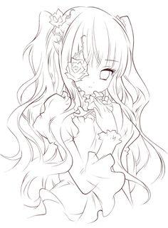 18 trendy line art anime Anime Drawings Sketches, Anime Sketch, Kawaii Drawings, Cute Drawings, Anime Character Drawing, Manga Drawing, Manga Art, Character Art, Anime Lineart