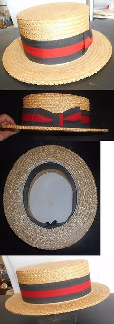b4870b998743c Mens Hats 163619  Nos 40 S-50 S Boaters Straw Hat Made In Italy Barber Shop  Quartet Size 58 7-1 4 -  BUY IT NOW ONLY   125 on eBay!