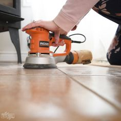 Learn how to paint tile floors with a stencil with my step by step DIY tutorial. Get the look of farmhouse cement tile on a budget! Painting Baseboards, Painting Tile Floors, Painted Floors, Ceramic Painting, Ceramic Floor Tiles, Bathroom Floor Tiles, Stencil Diy, Stencils, Floor Stencil