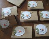 Handmade Christmas Cards Rustic Snowman Let it Snow by GrammyandMe