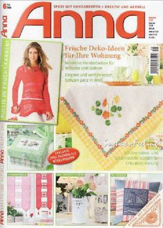 Anna Craft Mag: Fabric, Embroidery, Cross-stitch and Sewing - Many small projects to make for the home.
