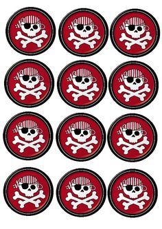 Pirate Decor, Pirate Crafts, Pirate Theme, Pirate Day, Pirate Birthday, 40th Birthday Parties, Pirate Cupcake, Fondant Toppers, First Birthdays