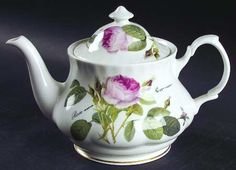 Redoute Roses Teapot & Lid by Roy Kirkham @ Replacements