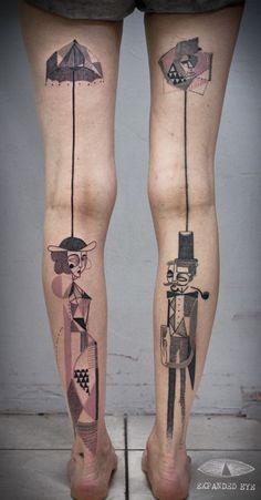 tatuaje cubismo