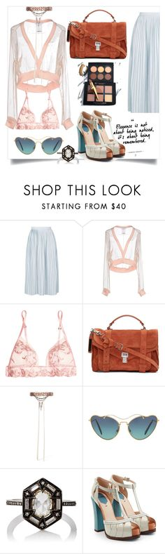 """""""Untitled #106"""" by dido-c ❤ liked on Polyvore featuring Topshop, Givenchy, La Perla, Proenza Schouler, Erickson Beamon, Miu Miu, Cathy Waterman and Fendi"""