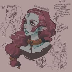Hey everyone! I've finally started nailing down what I want Chiara to look like. This is the one thing I've been stuck on for so long and I just couldn't nail down what I wanted. I think I've finally figured it out. After many failed horrible...