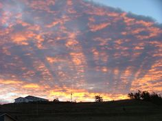 """Natural cloudscape photo taken in Billings, MT. I call this """"Stripes"""""""