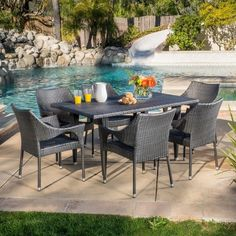 Christopher Knight Home Cliff 7-piece Outdoor Dining Set